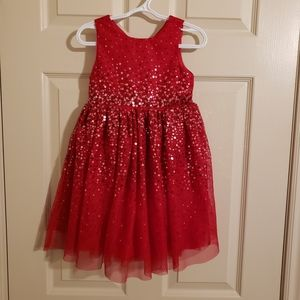 H&M Red Sequined Holiday Dress Toddler 2-3Y